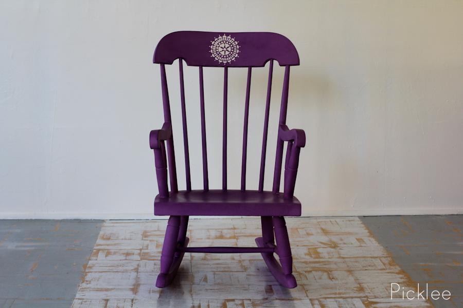 Quot Purple Yurple Quot Children S Rocking Chair Picklee On Spring