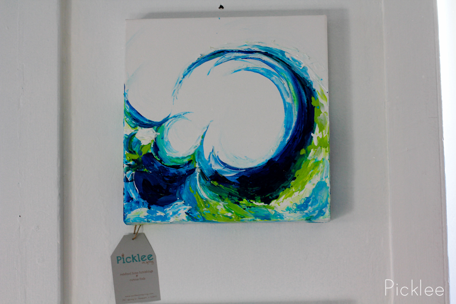 Hand Painted Wave Painting By Jennifer Rashleigh Crest
