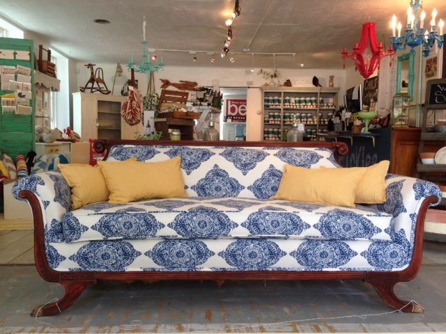 Antique Duncan Phyfe Mahogany Sofa