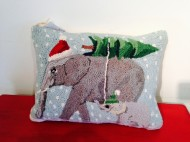 elephants pillow
